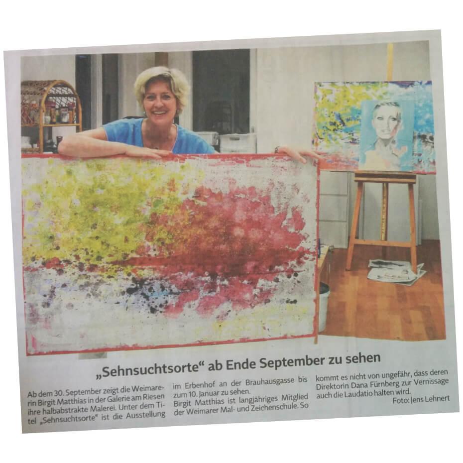 Presseartikel Birgit Matthias